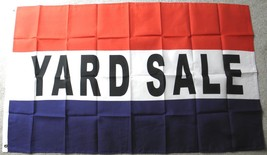 YARD SALE GARAGE WEEKEND POLYESTER FLAG 3 X 5 FEET - $7.51