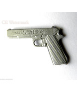 COLT 45 REVOLVER 1911 PISTOL GUN NOVELTY MATTE SILVER COLOR LAPEL PIN 1 ... - $4.46
