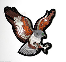 EXTRA LARGE EAGLE LANDING QUALITY EMBROIDERED JACKET PATCH 6.5 INCHES - $12.18