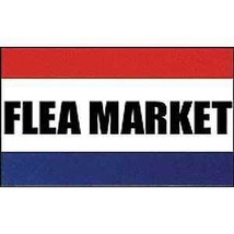 FLEA MARKET SALE POLY BANNER 3X5 FOOT FLAG - $7.47