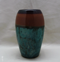 Decorative Glazed Pottery Table Top Vase // Flo... - $6.00