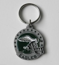 NFL FOOTBALL PHILADELPHIA EAGLES PEWTER KEY RING KEYCHAIN KEYRING 1.5 IN... - $155,05 MXN