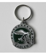 NFL FOOTBALL PHILADELPHIA EAGLES PEWTER KEY RING KEYCHAIN KEYRING 1.5 IN... - £5.88 GBP