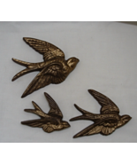 Vintage Burwood Product Co. Gold Sparrow Three Piece Wall Hangings  - $15.00