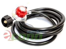 12 Feet Propane Regulator High Pressure LPG bbq Gas burner wok fryer Hos... - $25.73