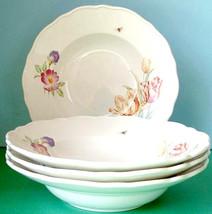 Martha Stewart Martha's Garden SET/4 Soup Pasta Bowl(s) New in Box - $98.90
