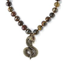"Heidi Daus Captivating Cobra Drop Necklace 17-1/2""L - $148.46"