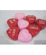 Lot of (8) Valentines Day Conversation Hearts Candy Box Pink Red Decorat... - $9.99
