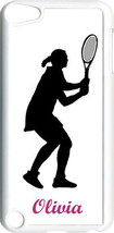 Monogrammed Sport Tennis iPod Touch 5th Gen 5G on White TPU Hard Case Cover - $11.26