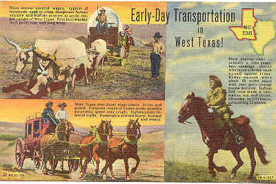 Primary image for West Texas Early Day Transportation Post Card