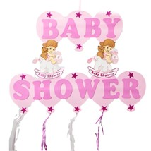 """Baby Girl Shower Hanging Foam Pink Decoration baby horses 22"""" tall 30"""" wide - $19.75"""
