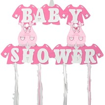 """Baby Girl Shower Hanging Foam Pink Decoration baby clothes 22"""" tall 30"""" wide - $19.75"""