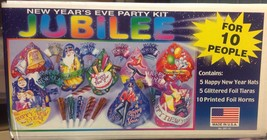 New Years Eve Jubilee Multi Colored Party Pack Kit for 10 People - $15.83