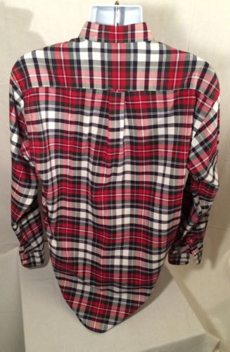 Nautica Men's Checkered Long Sleeve Dress Shirt - Size: Medium - Amazing