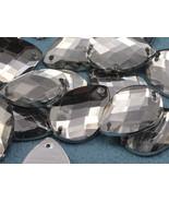18x13mm Crystal Clear CH38 Square Cut Teardrop Flat Back Sew On Gems 50 PCS - $5.61