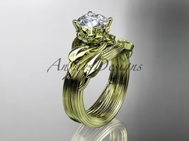 14kt yellow gold diamond engagement set with a Moissanite center stone A... - $1,200.00