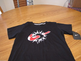 Boy's youth Nike T shirt NEW 7 kids Logo TEE NWT swosh black 880202-023 ... - $11.17