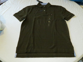 Men's Tommy Hilfiger Polo shirt logo 7884297 Coconut Brown 201 S sm Clas... - $33.25
