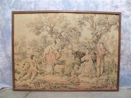 75x56 Victorian Lady Tapestry Decorative Wall Hanging Picnic Shabby Chic... - $124.00