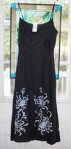 Dress Ann Taylor Loft NEW $99 Size 00 black white floral embroidery Reso... - $60.00