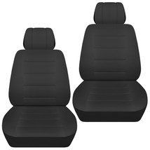 Front set car seat covers fits Chevy Impala 2007-2020   solid charcoal - $69.99