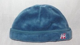 Baby Boy Hat Blue Velvet Train  Size Newborn - $8.41