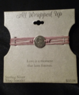 All Wrapped Up Sterling Silver Pink Wrap Bracelet Love Theme New With Tags - $19.99