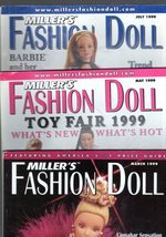 Miller's Fashion Doll Magazine - 5 Issues ( March, May, July, Sept, & Nov.) - $12.00
