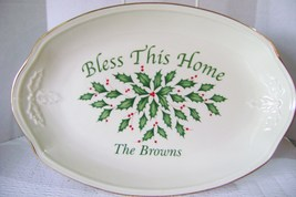 """Lenox  Dimension Collection  Holiday  Platter 11"""" Bless This Home The Br... - $14.00"""