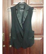 NWOT Forever 21 Black Buttoned Waist coat Tuxed... - $28.00