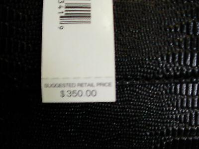 DKNY sahtchel handbag black lizard print leather with pocket beautiful new