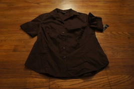 NEW WITH TAG WOMENS GEORGE SHORT SLEEVE BUTTON DOWN TOP SIZE SMALL - $8.00