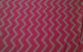 ~NEW~Quilters Flannel Pink Tonal Chevron Fabric 1 yard - $6.99