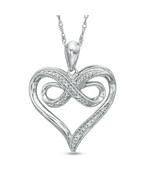 Diamond Accent Heart Infinity Pendant Necklace - $78.00