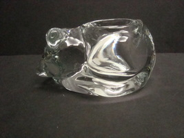Indiana Glass Cat Candle Holder, Clear, No Box, #4458 - $15.99