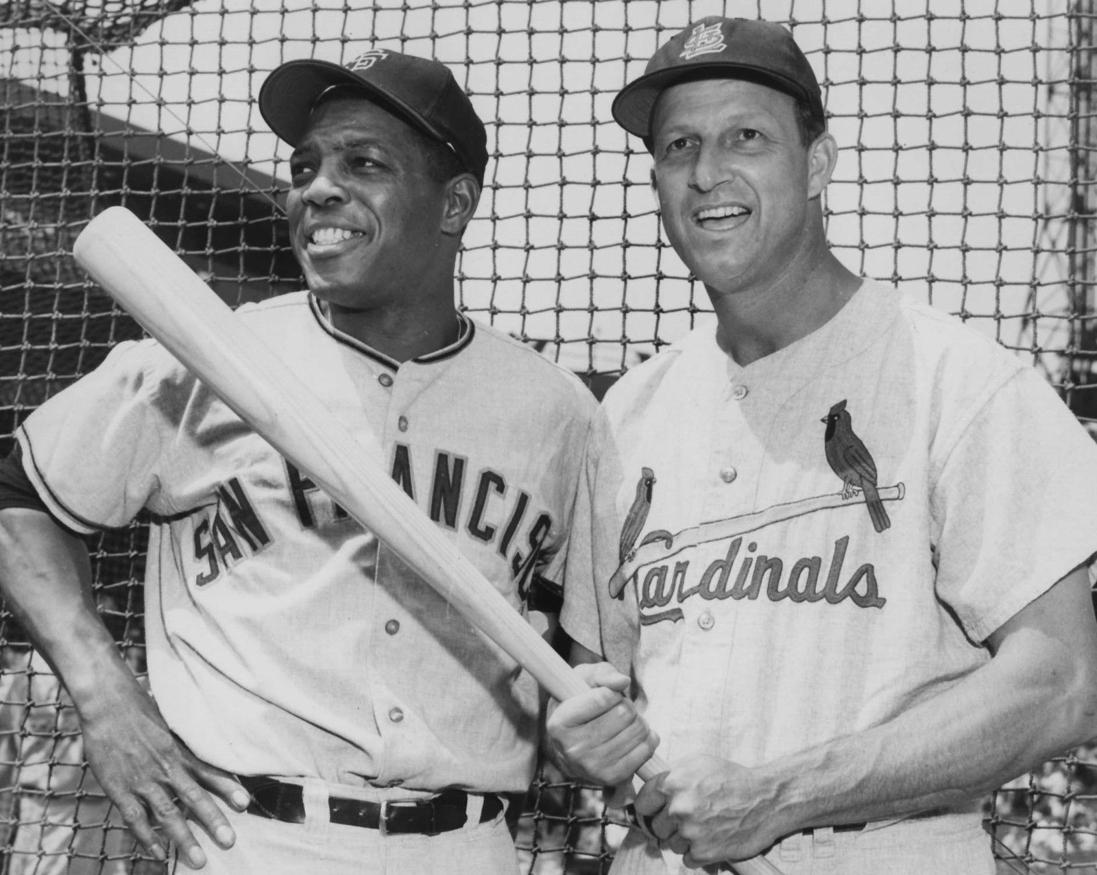 Primary image for Willie Mays Stan Musial Giants Cardinals TKK 8X10 BW Baseball Memorabilia Photo
