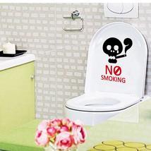 Honana BC-594 No Smoking Reminder Sign Removable PVC Toilet Seat Sticker... - $13.15