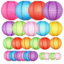 Paper Lanterns Decorative 25 PCS, Chinese Japanese Lanterns Colorful Han... - £21.44 GBP