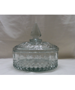 Vintage INDIANA GLASS Clear Pressed Glass Candy Dish with Lid - $13.00