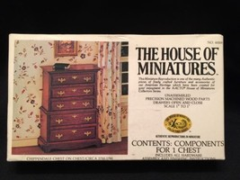 House of Miniatures Chippendale Serpentine Chest Doll House Furniture 40009 NEW - $15.47