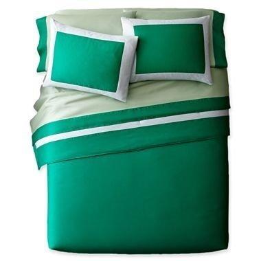 Pantone Universe Emerald Green Full Queen Comforter Set