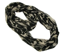 Mystique Womens Animal Print Sheer Infinity Loop Scarf Wrap, One Size (B... - £14.08 GBP