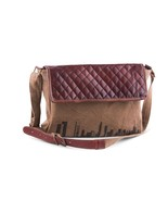 Mona B Skyline Recycled Canvas & Leather Messenger Bag, Smaller Size,Coc... - $49.95