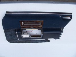 1991 CADILLAC BROUGHAM d'Elegance RIGHT FRONT BLUE VELOUR DOOR PANEL OEM... - $231.41