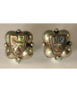 Made in Mexico Silver and Abalone Masks Screw B... - $10.00