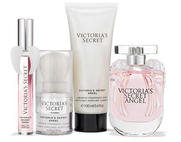 NEW Victorias Secret Angel Gift Set. Parfum, Shimmer Powder & Body Wash image 2