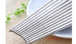 Stainless Steel Chopsticks - 10 Pairs