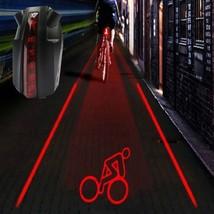 Bike Bicycle Intelligent Laser 5 LED Rear Light Cycling Tail Light C-Type - €15,67 EUR