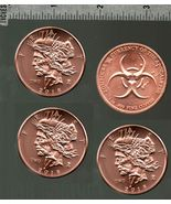 4x Zombucks FEAST dollars, 4 oz. .999 fine copper bullion, #6 in the series - $9.95