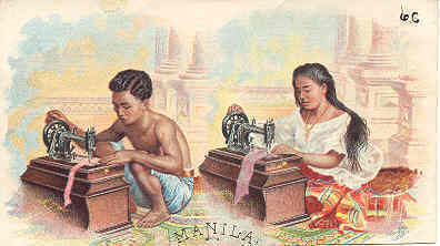 Primary image for Singer Sewing Manila 1892 Victorian Trade Card
